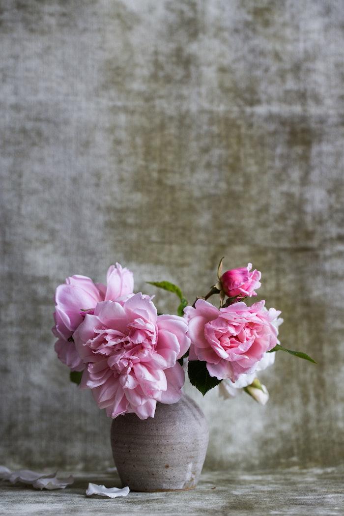 Rose fond d'écran fond d'écran iphone fleur image beauté vase avec pivoines