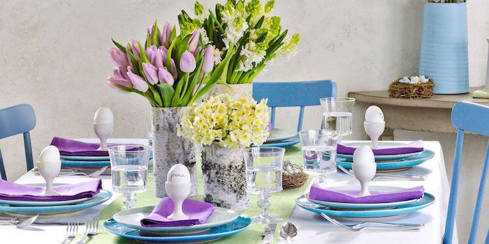 Deco de paques violet tulips idée déco de Pâques décoration facile