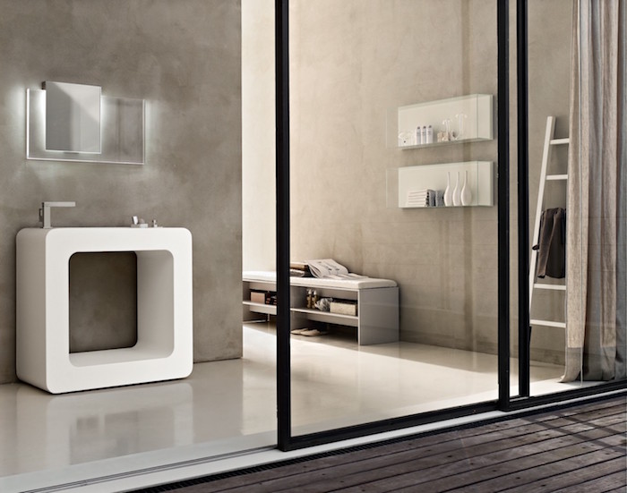 1001 id es salle de bain beige et gris pierre deviendra sable. Black Bedroom Furniture Sets. Home Design Ideas
