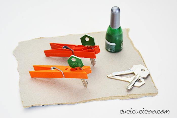 Réaliser des activités manuelles activite enfant activité manuelle été originale idée diy peindre des clés avec vernis dd ongles