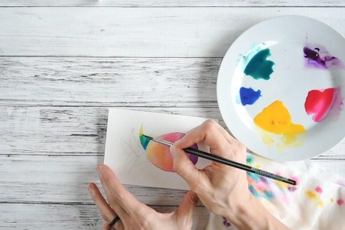 Activités manuelles 6 12 ans activite enfant faire soi même idée pour petits et grands peintures aquarelle