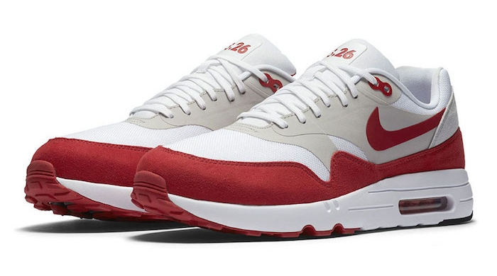 baskets tendances homme nike air max 1 ultra 2 0 edition 30e anniversaire rouges
