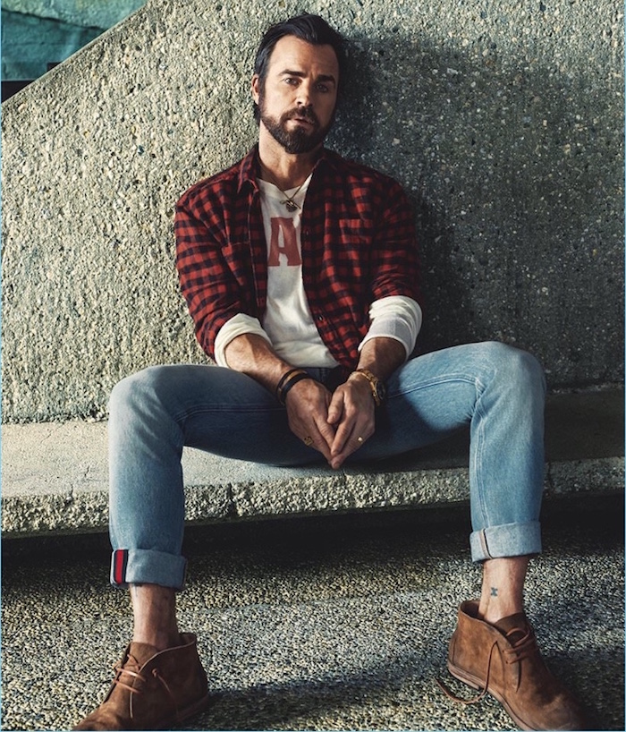chaussures homme desert boots en cuir suede marron tendance