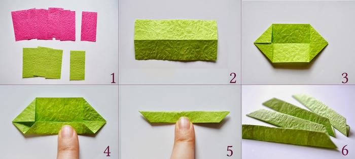 comment plier un modèle traditionnel d'origami fleur de lotus