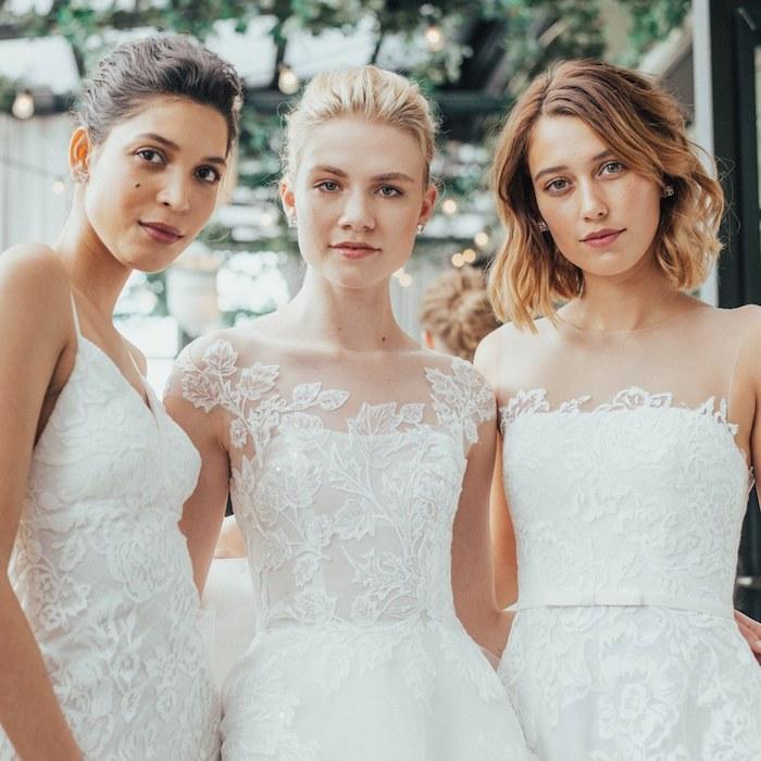Robe de mariée dentelle robe pour mariage pas cher femme robe blanche photo de mariage amies le jour j robes différentes styles