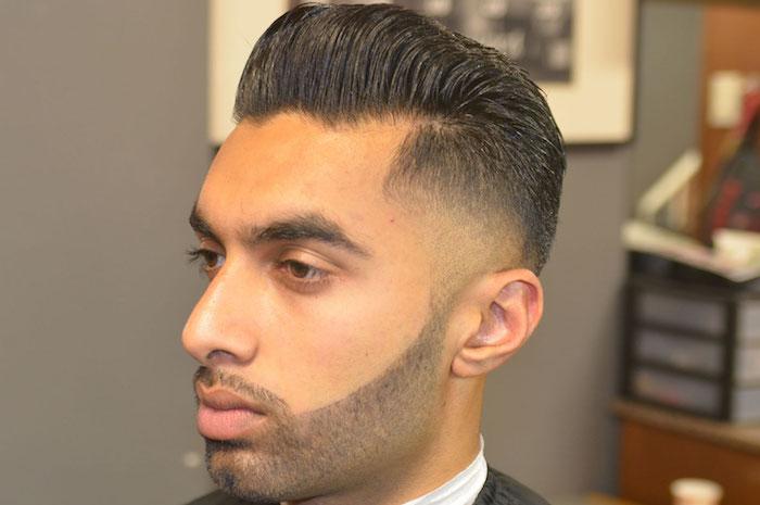 comment tondre sa barbe courte en dégradé inversé de bas en haut et raser contours joues