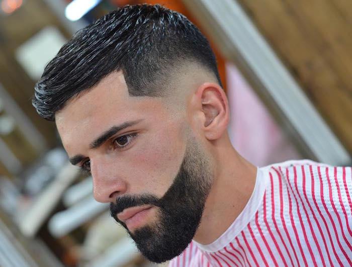 comment tailler sa barbe hipster courte avec haut dégradé pattes et fondu américain