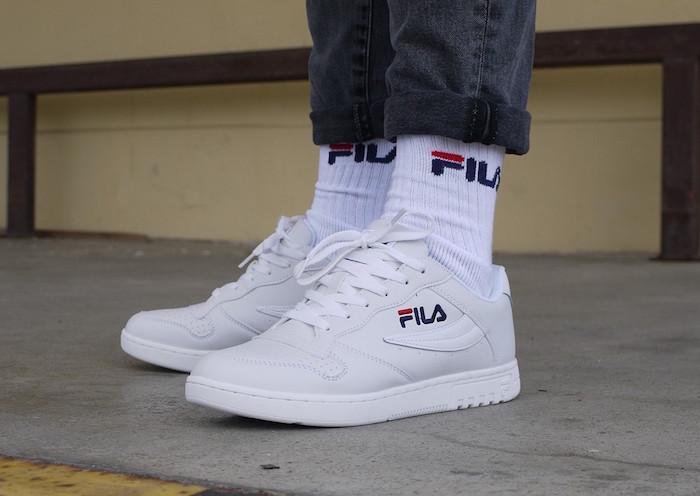 baskets rétro blanches basses fila fx 100 low white pour été 2018