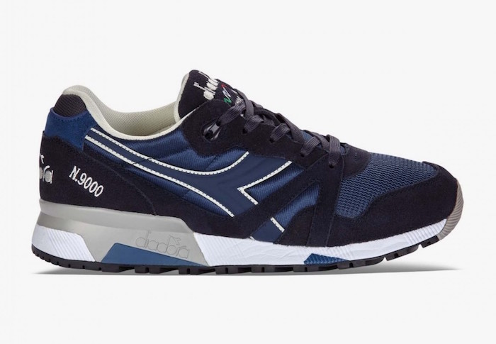 tendance chaussure homme diadora n9000 bleu marine vintage