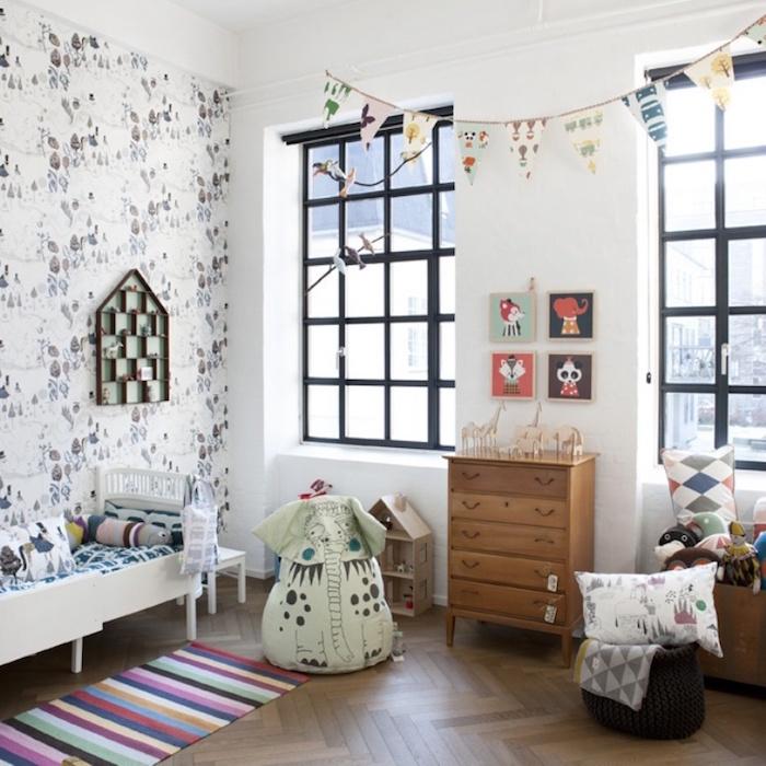 ▷ 1001 + idées | Chambre bébé scandinave – le blanc de l\'innocence