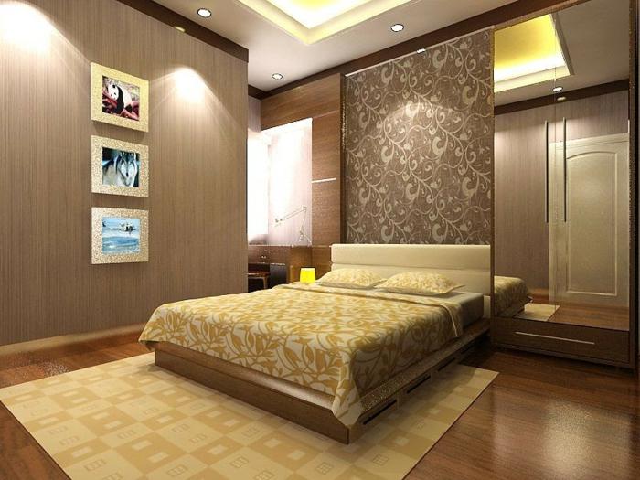 découvrir la meilleure couleur chambre adulte pour sa feng shui chambre, tapis et couverture de lit beige