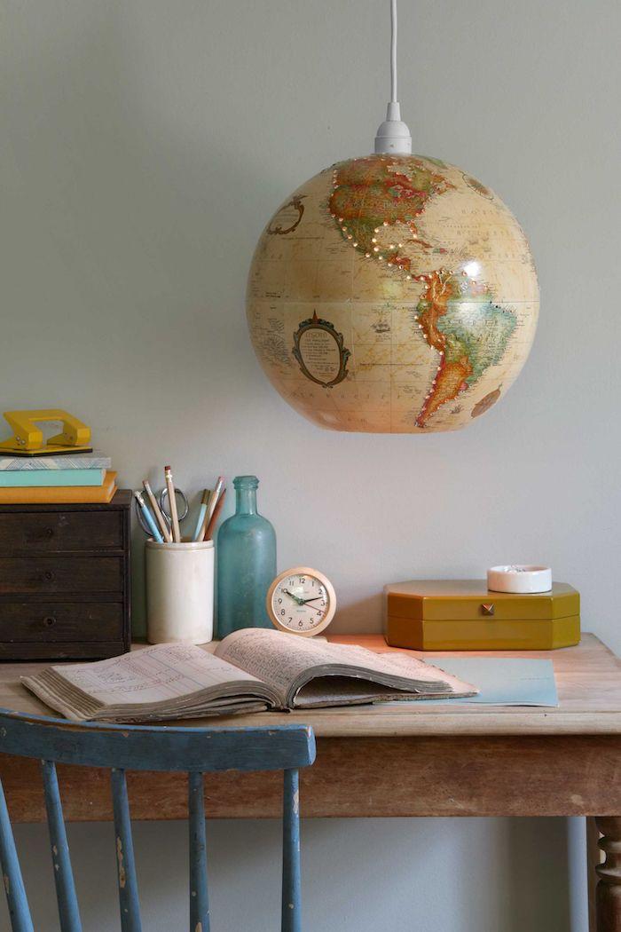 Chouette activité manuelle adulte activiter manuelle activité créative pour les petits et les grands lampe de globe vintage