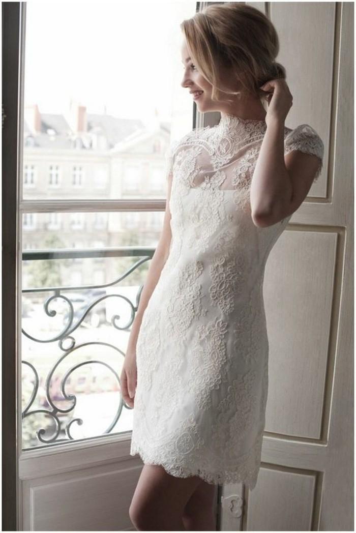Belle robe de mariée luxe courte dentelle robe mariée 2018 s'habiller bien pour son mariage choisir le style