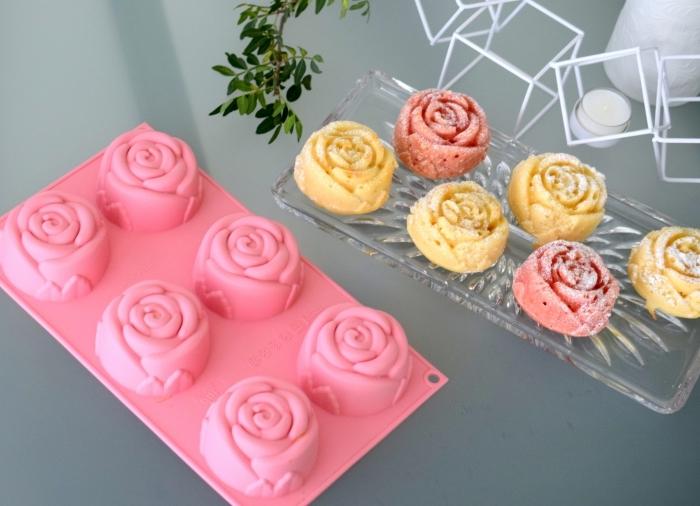 surprendre sa maman pour la fête des mères avec un dessert fait soi-même, petits bonbons en formes de roses