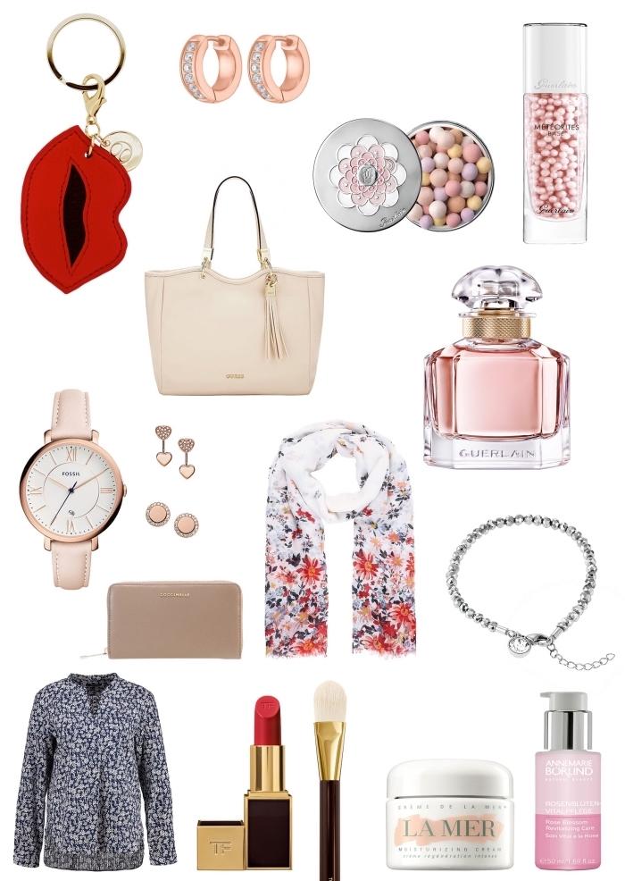trouver une idée cadeau anniversaire maman original, accessoires maquillage et bijoux moderne à offrir à une femme