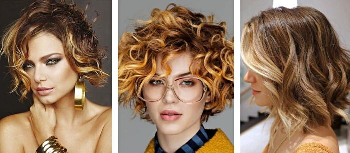 idée comment coiffer les cheveux courts en coupe carré plongeant, maquillage pour yeux verts avec fards à paupières dorées et crayon noir