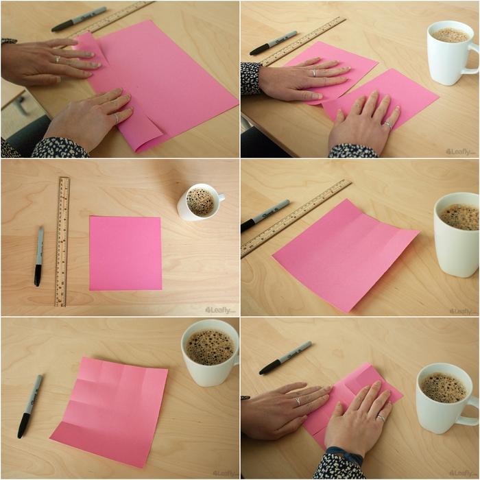 comment réaliser une boîte fleur en origami en forme de rose épanouie, idéale pour un cadeau de dernière minute