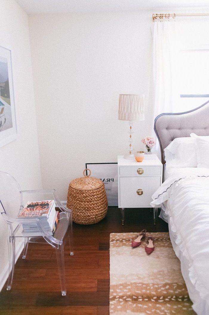 Decoration chambre à coucher adulte moderne déco simple idée parfait en blanc chambre à coucher féminine