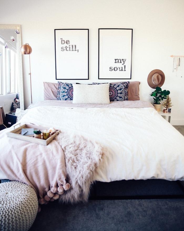 Meuble pour chambre le meuble chambre adulte scandinave simplicité et modernité boho style chambre