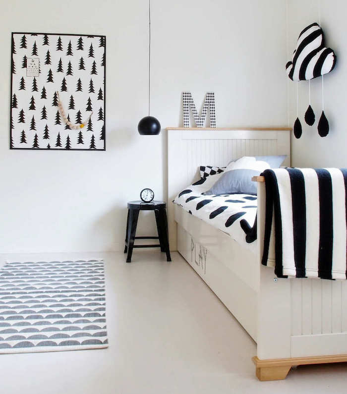chambre b b scandinave le blanc de l innocence obsigen. Black Bedroom Furniture Sets. Home Design Ideas