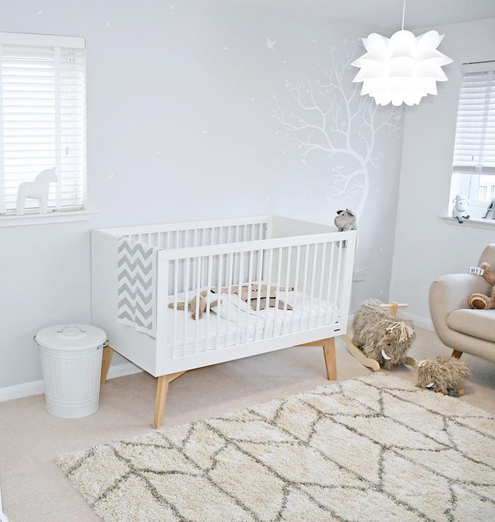 chambre b b scandinave le blanc de l innocence obsigen. Black Bedroom Furniture Sets. Home Design Ideas