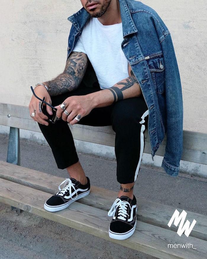 modele chaussure mode 2018 homme style hipster vans old skool noir basse