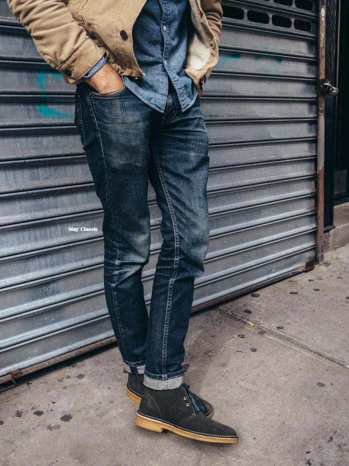 chaussure chukka homme tendance gris anthracite pour tenue à la mode