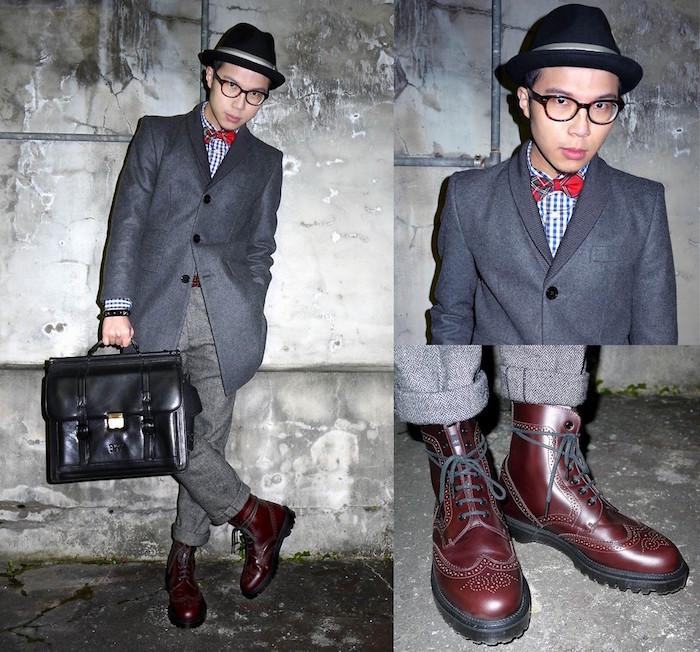 marque chaussure homme tendance wingtip dr martens montantes en cuir