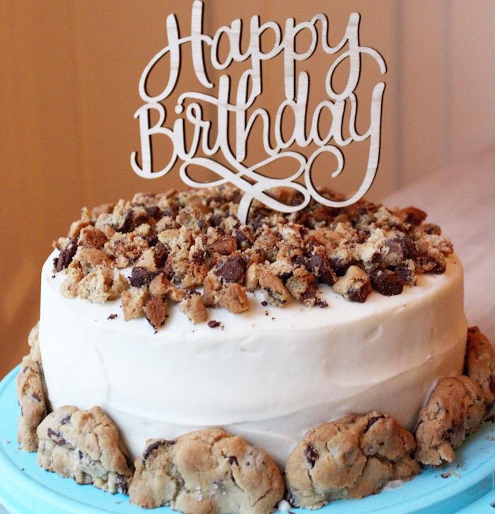 Recette gateau anniversaire facile avec chocolat blanc et cookies au chocolat recette gateau chocolat facile