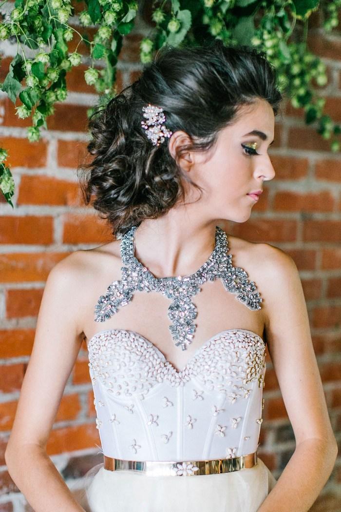 La plus belle robe de mariée romantique collier originale robe bustier coeur être la plus belle mariée robe à choisir