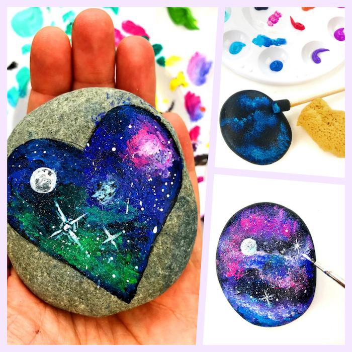 Cool idée quelles activités manuelles activité manuelle facile et rapide idée diy simple pierre peinte