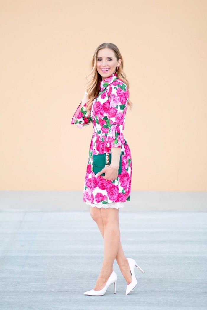 Idee tenue femme pour bapteme tenue vintage chic cérémonie robe fleurie belle tenue printanière robe