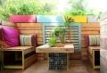 Meubles de jardin en palettes – des idées pour des modèles fonctionnels