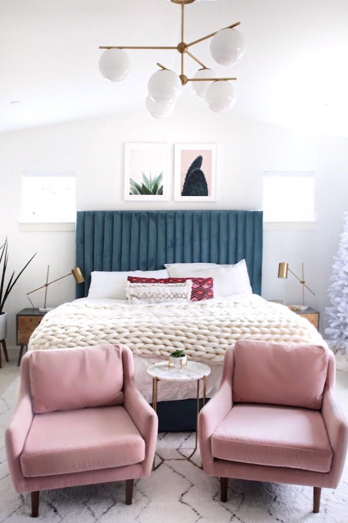 Chambre à coucher adulte moderne déco originale idée image décoration