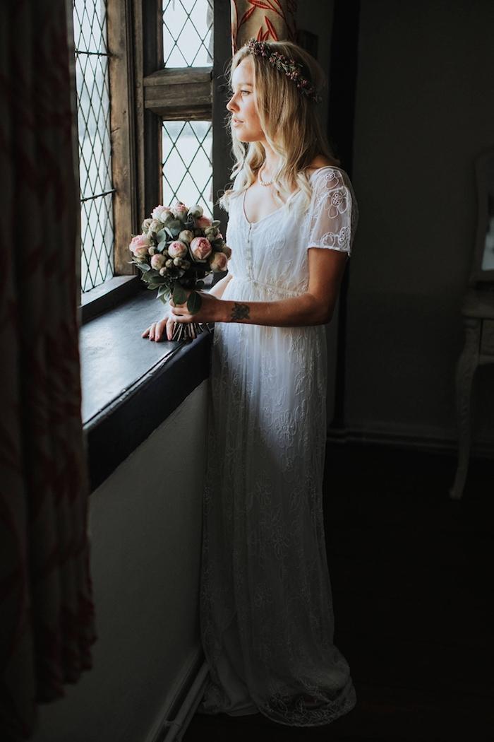 Belle robe de mariée luxe robe mariée 2018 s'habiller bien pour son mariage choisir le style bohème chic