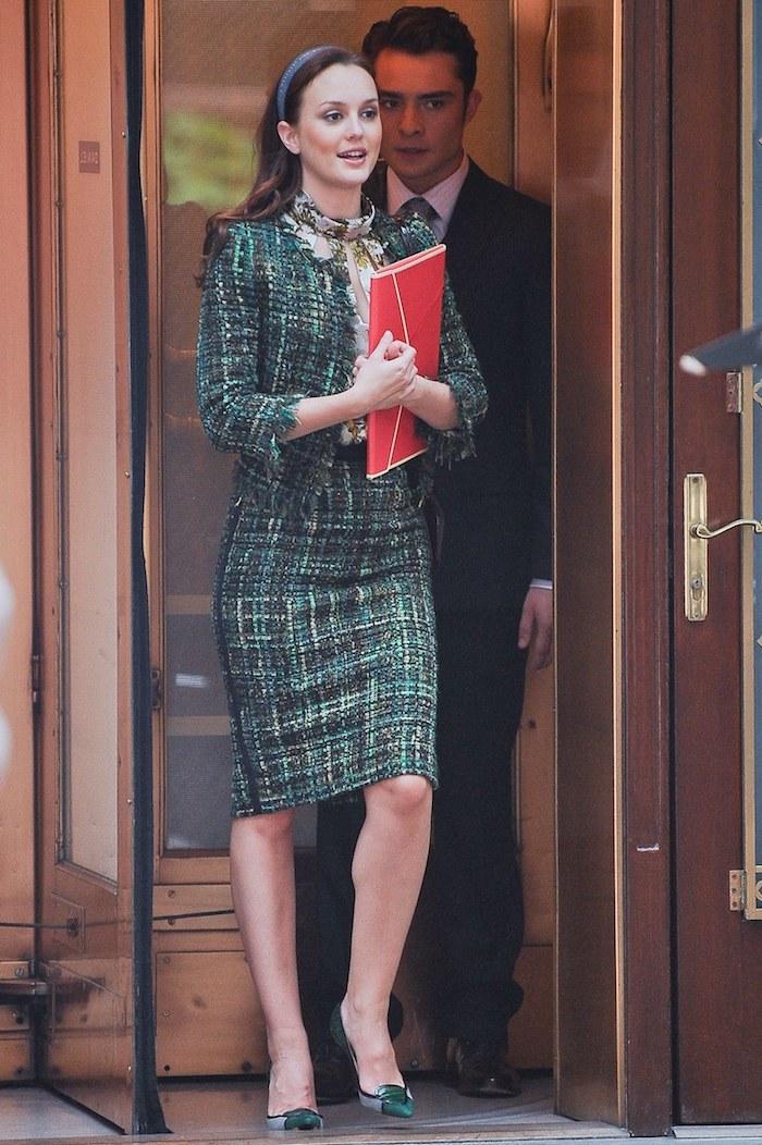 Moderne idée tenue de bapteme pour femme tenue de soirée chic pour femme Blair Waldorf