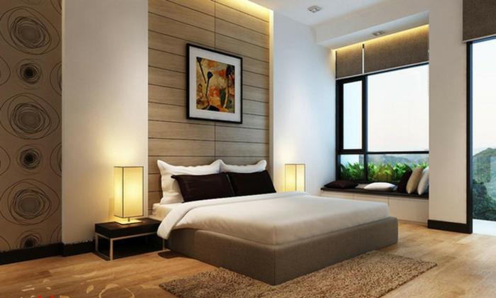 comment avoir une feng shui chambre beige et gris aux lignes minimalistes