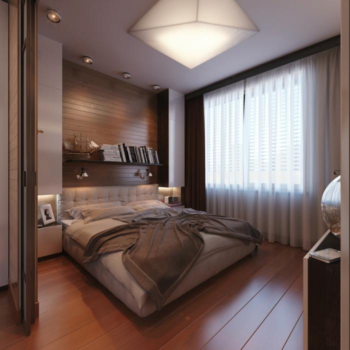 savoir quelles sont les feng shui couleurs pour une chambre à coucher, plancher en bois
