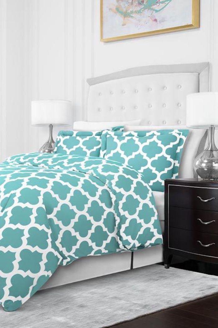 Chambre adulte complete moderne decorer sa chambre à coucher aménagement chambre ado bleue et blanche déco moderne