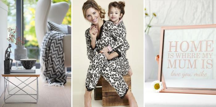 cadeau fête des mères à fabriquer ou acheter pour décorer l'intérieur avec objets confort et utiles, modèle de pyjamas à deux à design animal