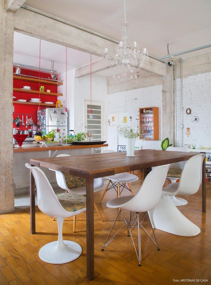 quelle couleur pour les murs d'une cuisine d'esprit loft,