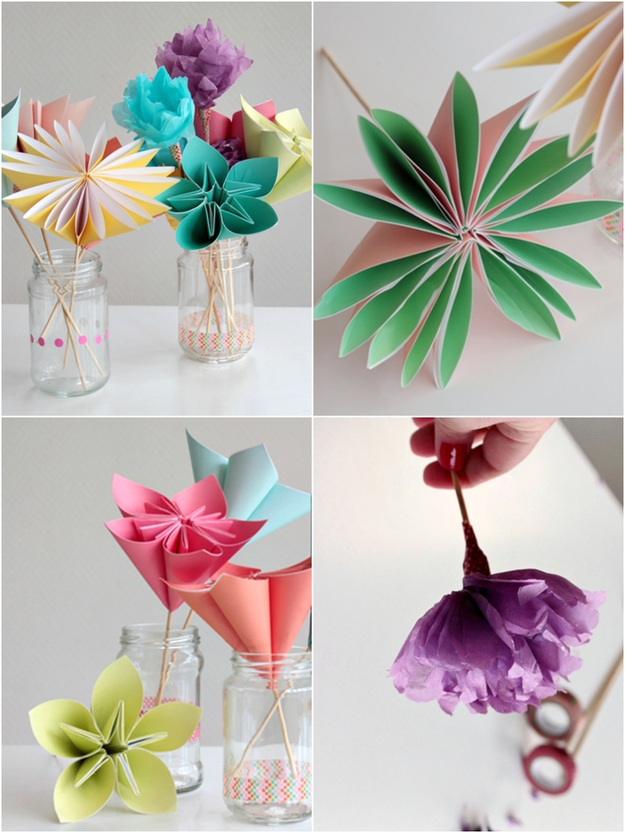 comment faire une origami fleur en suivant cette simple technique de pliage, créez un joli bouquet tout en fleurs origami