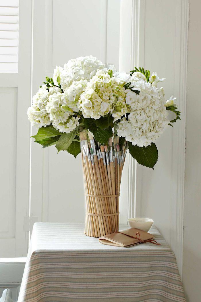 Idée d'activité manuelle créer une vase de pinceaux activité manuelle facile et rapide cool craft idée simple