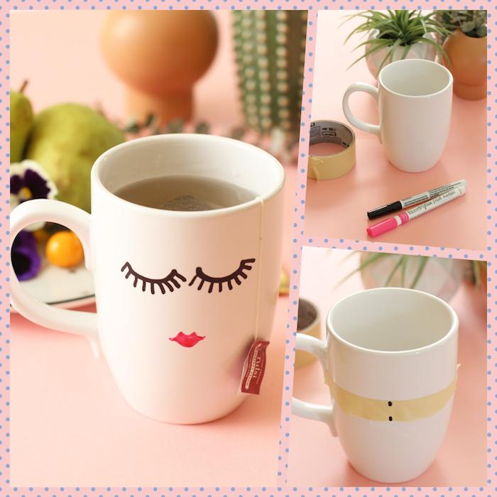 Simple activité manuelle adulte activité manuelle facile et rapide beaux objets tasse de thé ou tasse de café joliment décorée