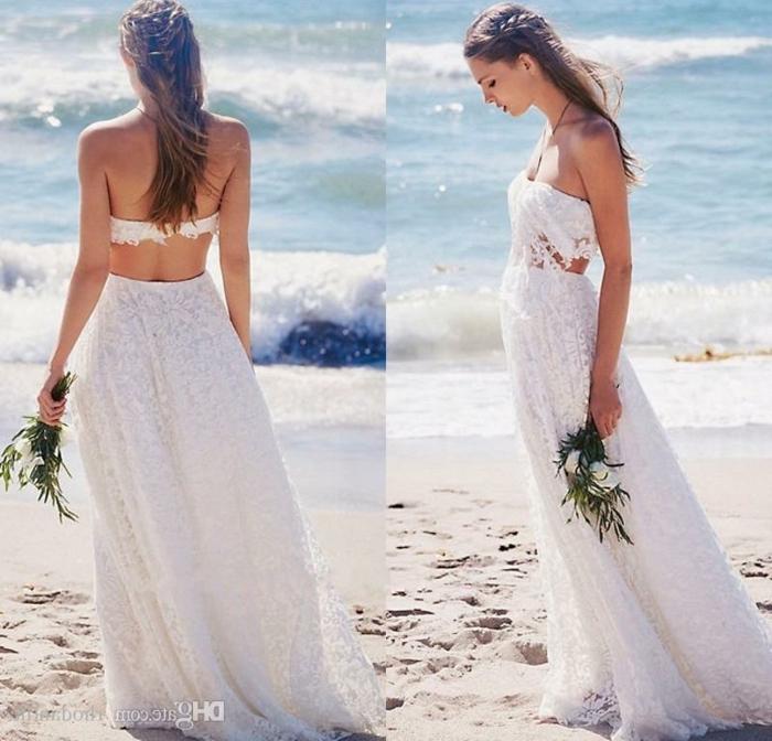 Tendance mariage 2018 beauté femme robe originale mariage photo mariage à la plage robe bohème