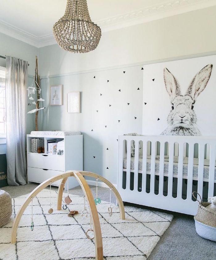 Idées Chambre Bébé Scandinave Le Blanc De Linnocence - Canapé convertible scandinave pour noël site déco chambre bébé