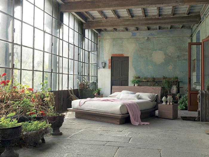Chouette idée chambre adulte rustique aménager la chambre a coucher cool idée à réaliser pour une chambre eclectique