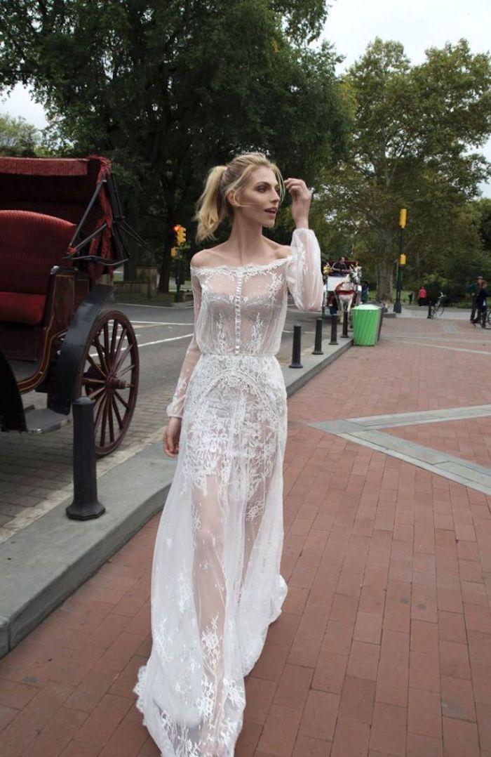 Robe de mariée courte 2018 robe mariee simple mariage originale chouette idée pour votre mariage dentelle robe transparente