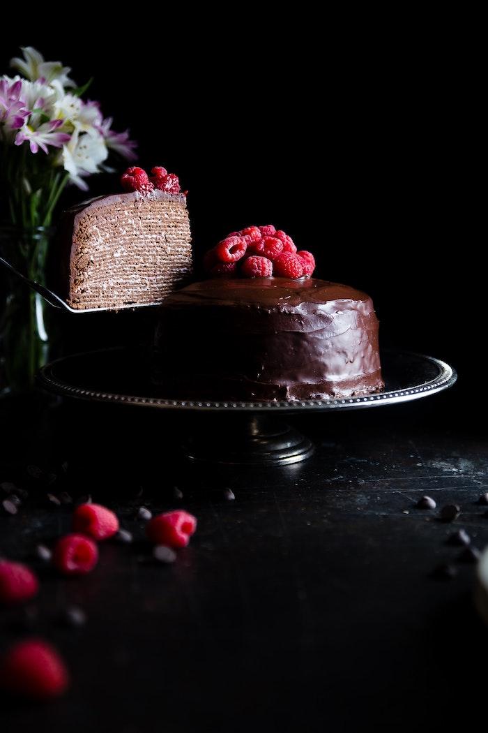 Cool idée gateau au chocolat anniversaire adulte gateau de crepes recette de genoise au chocolat