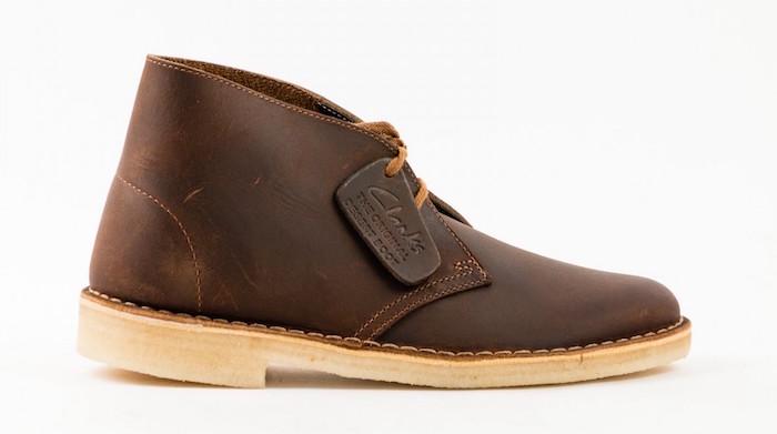 chaussures desert boots clarks originals en cuir marron pour homme tendance